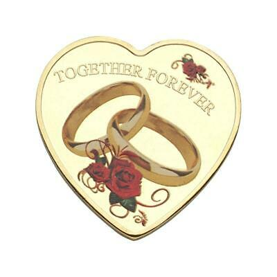 """TOGETHER FOREVER""Heart Love Shape Commemorative Coin Collection Gift 2019"