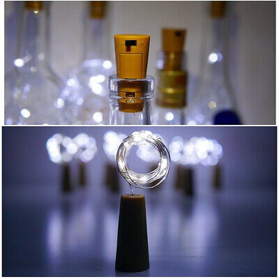 2M 20 LED Wine Bottle Fairy String Cork Light Starry Night Lamp for Xmas Wedding