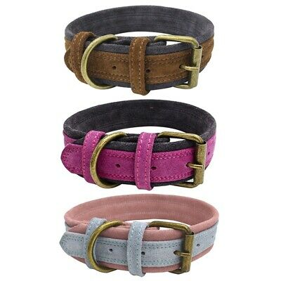 Pet Dog Genuine Cow Leather Collar Puppy Cat Neck Buckle Adjustable Neck Strap