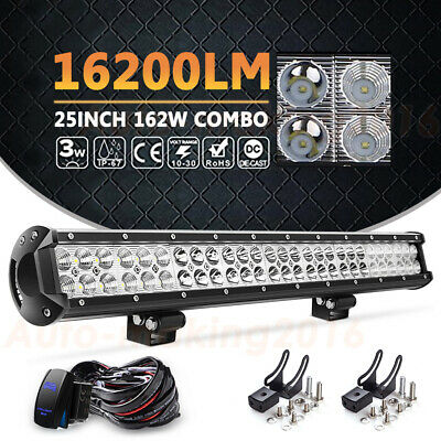 """150W 30"""" Inch Behind Grille LED Light Bar + Wiring Kit For 2011-2016 F250 F350"""