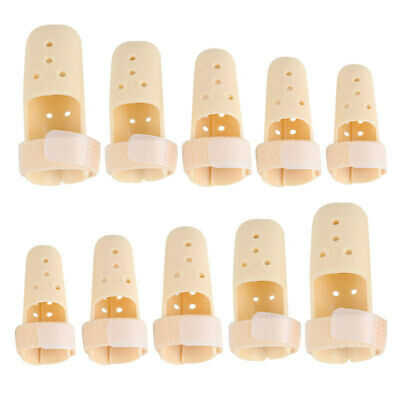 5pcs Finger Injury Pain Splint DIP Joint Mallet Support Brace Protection Plastic