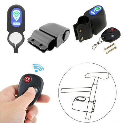 Wireless Alarm Lock Bicycle Bike Security System Remote Control Anti-Theft UK