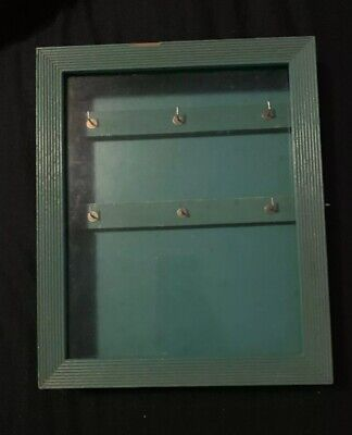 Gorgeous Vintage Antique Display Case With Glass Hinged Wooden Door 6 Hooks