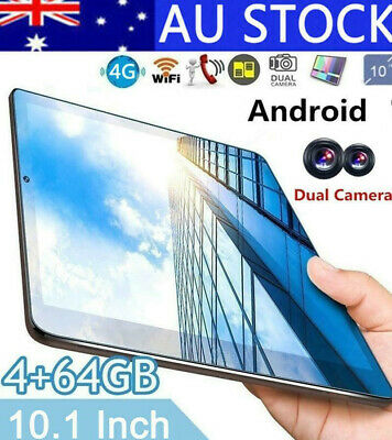 """HD Screen 10.1"""" Eight-Core Android 5.1 Tablet IPS 4GB+64GB Bluetooth Wi-Fi 4G AU"""