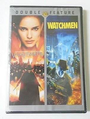 V for Vendetta/Watchmen - Double Feature -DVD, 2012, 2-Disc Set BRAND NEW SEALED