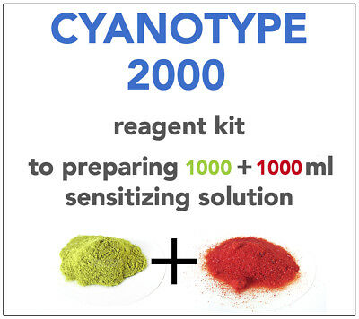 CYANOTYPE REAGENT KIT(for 1000+1000ml) ALL YOU NEED TO SENSITIZE 500 A4 SHEETS