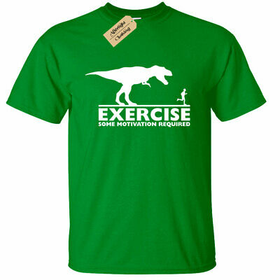 KIDS BOYS GIRLS Exercise some motivation required T Shirt Funny gym fitness lazy