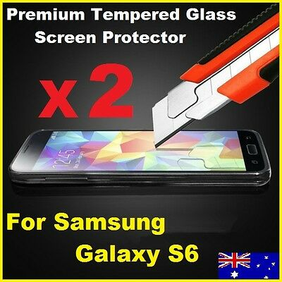Tempered Glass Film Guard Tough Screen Protector for Samsung Galaxy S6 9H