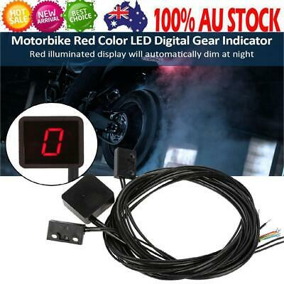 Motorcycle Motorbike Red Color LED Digital Gear Indicator Shift Lever Sensor Red