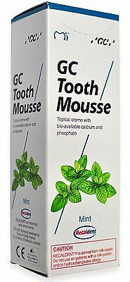 GC Tooth Mousse  With Tooth-Replenishing Calcium For Stronger Teeth(Mint) RG367