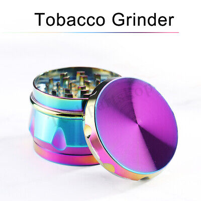 63mm Metal Alloy Rainbow Tobacco Herb Grinder 4 Layers Hand Muller Smoke Crusher