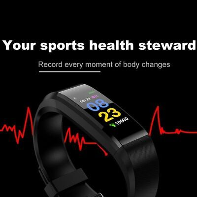 Smart Watch Bracelet Wristband Heart Rate Monitor Blood Pressure Fitness*Tracker