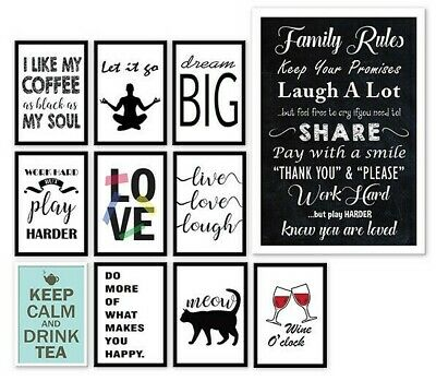 Motivational Inspirational Prints Funny Quotes Posters,A3 A4 Wall Art Decor