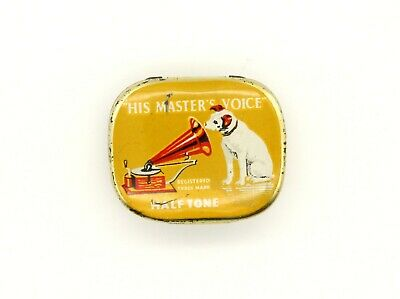 GRAMOPHONE NEEDLE TIN - His Master's Voice - Half Tone [NEEDLE TIN]