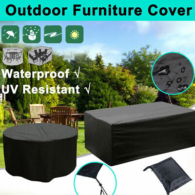 Black Waterproof Outdoor Patio Garden Furniture Rain Snow Cover for Table Chair