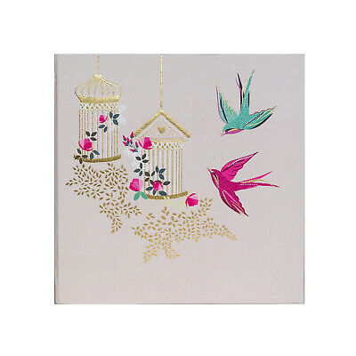 Sara Miller - Pink and Green Swallow Birds Large Photo Album