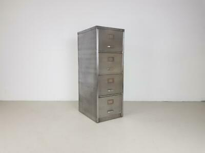 Vintage Industrial Stripped Metal Filing Cabinet Chest Drawers Midcentury #2615