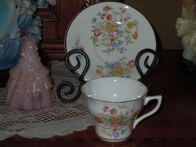 CROWNFORD Fine Bone China Made In England TEA CUP AND SAUCER S1