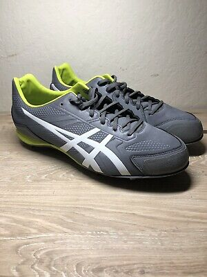 8950131aa37 ASICS Base Burner K600Y 9707 Mens Baseball Cleats Size 10.5 NWT Gray Lime