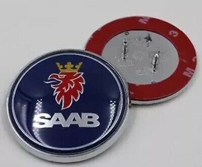 NEW Saab 9-3 Front Hood Bonnet Emblem Badge Symbol Logo 68MM UK Seller