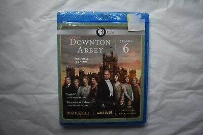 Downton Abbey Season 6 Masterpiece Classic NEW 3 Disc Blu Ray