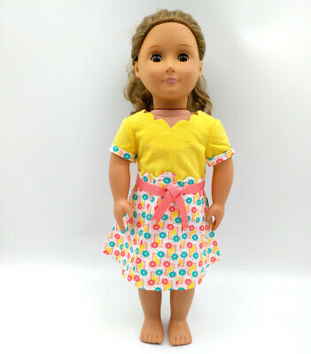 Fit For 18'' American Girl Doll Photographer Dress Outfit Floral Beforever Kit's