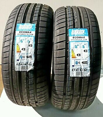 Two X2 New Tyres 205/50Wr17 Infinity Ecomax 93W Xl * B Rated * Mid-Range* Cheap*