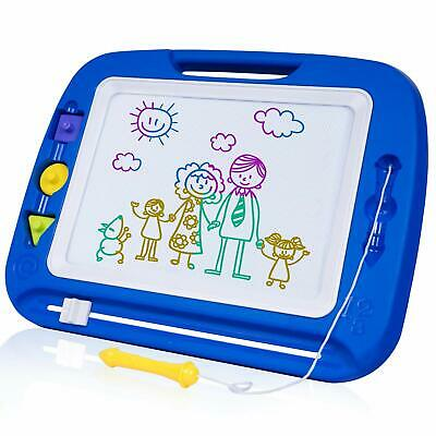 SGILE Magnetic Drawing Board, 13X16 Non-Toxic Big Magnetic Erasable Magna Doodle
