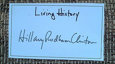 Signed Bookplate Hillary Clinton Signature Living History RP