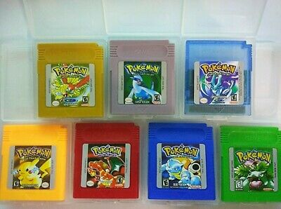 Pokemon Gold Silver Yellow Red Blue Green Crystal Nintendo Gameboy GBC a F01