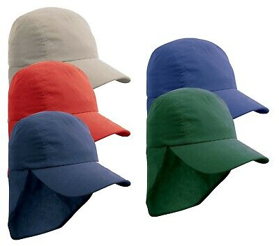 Boys Girls Childs Kids Legionnaire Cap Polyester Baseball Hat with Sun Protector