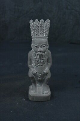 Lovely Handmade Ancient Egyptian Bes  (Bisu, Aha) Statue Hammer Stone