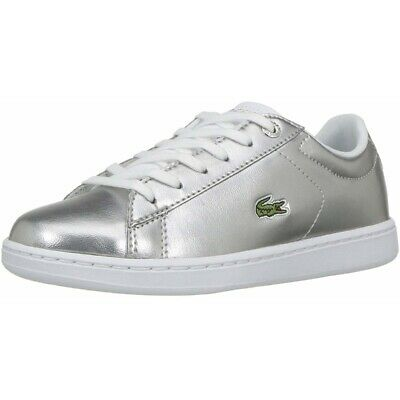 3cad6240b632 Lacoste Carnaby Evo 318 2 Argent Synthétique Enfant Formateurs Chaussures