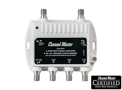 Channel Master 4 Port Distribution Amplifier HDTV Antenna Signal Booster CM-3414