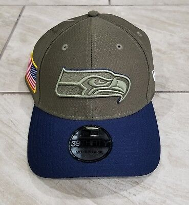 2018 Seattle Seahawks New Era 39THIRTY NFL Salute To Service Sideline Cap  Hat 48a82cb58