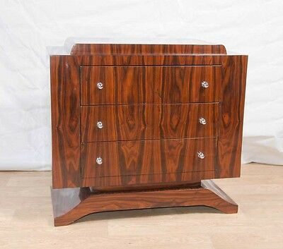 Art Deco Chest Drawers - Rosewood Commode Cabinet Furniture