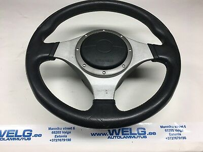 Genuine Mitsubishi Lancer Evolution Evo 7 8 9 Momo leather steering wheel