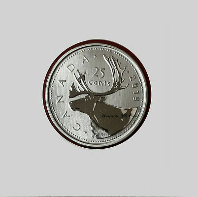 2019 Canada 25 Cent Specimen From Set