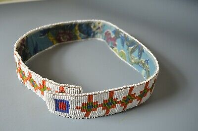 Good Native American Indian Plains beaded belt