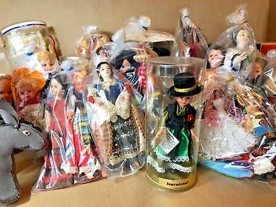 Collection of Foreign/Ethnic Dolls/Figures from Around the World Vintage Dress