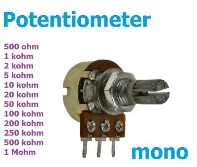 Prime Potentiometer Mono Pins Linear Logarithmisch 1K 500K Wiring Cloud Oideiuggs Outletorg