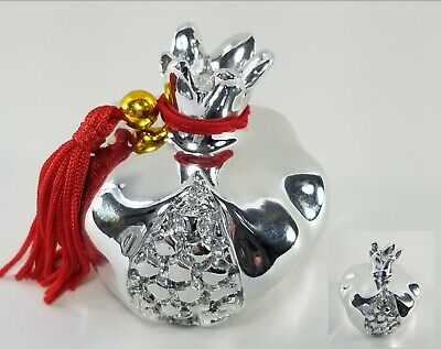 """Sterling Silver """"Lucky Pomegranate"""" Figurine Paperweight, Tarnish Resistant"""