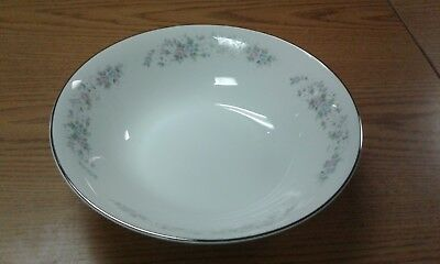 Carlton China CORSAGE Round Vegetable Serving Bowl White with Flowers Floral 54