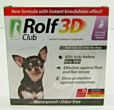 Rolf Club 3D Flea & Tick Collar for Small Dogs - 6 Months Supply - Exp: 11/2020