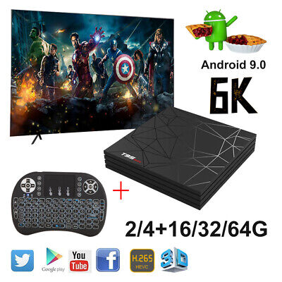 T95 Max 6K Android 9.0 2/4+16/32/64G TV Box Quad Core WIFI HDMI Backlit Keyboard