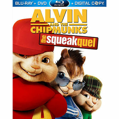 Alvin and the Chipmunks: The Squeakquel (Blu-ray/DVD, 2010) DVD disc only, read