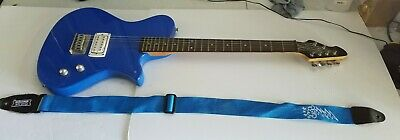 First Act Blue Electric Guitar Me5008 With Strap Maple Wood Great Condition