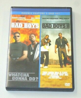 Bad Boys Bad Boys II (2 movie DVD set) RATED R Will Smith Martin Lawrence films