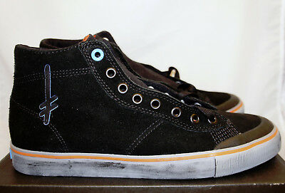 3b82c9325c Emerica x Deathwish Indicator High Top Black   Grey 10.5 Suede Skate Shoes  New