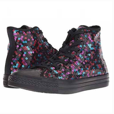 d2e6eb61756f6f New Converse CTAS Chuck Taylor All Star Women Shoes Hi Top Sequined  Sneakers 8.5